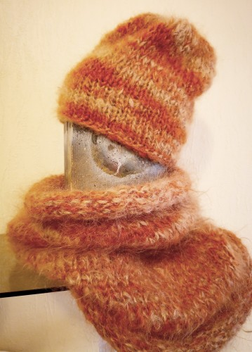 Sweet Caramel - Hat and Snood Set